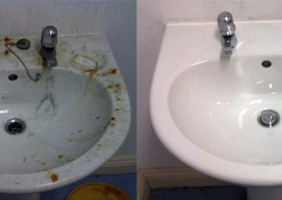 Bathroom Sink Cleaning
