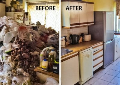 before and after hoarder
