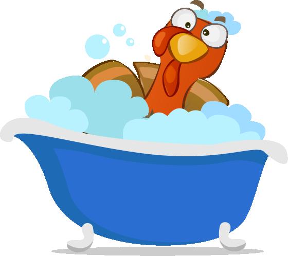 Bathing Turkey - Messy People and Clean Freaks