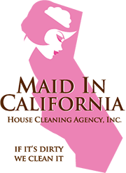 maid in california cleaning logo